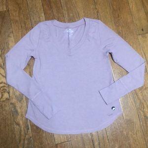 Hollister Lilac Easy Long Sleeve T-Shirt